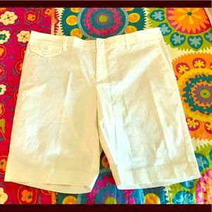 LOFT White Cotton Shorts